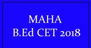 MAHA-B.Ed-CET-2018